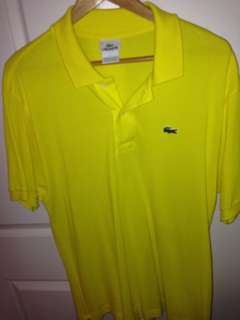Lacoste men's polo shirt in yellow