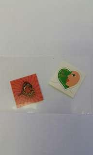 心型郵票2枚