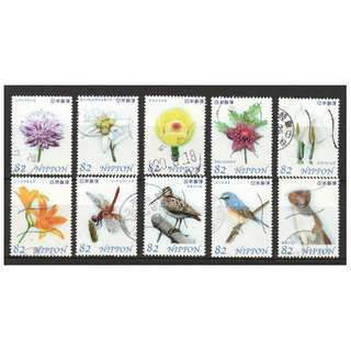 JAPAN 2017 NATURAL MONUMENTS SERIES 2ND ISSUE (OZE) COMP. SET OF 10 STAMPS IN FINE USED CONDITION