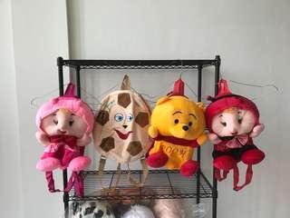 Tas boneka anak karakter lucu