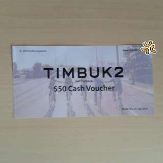 Timbuk2 $50 cash voucher