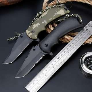 Climbing Camping Camouflage Folding Knife 登山野营迷彩折叠刀#256