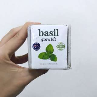 Brand New Sealed Mini Basil Growth Kit