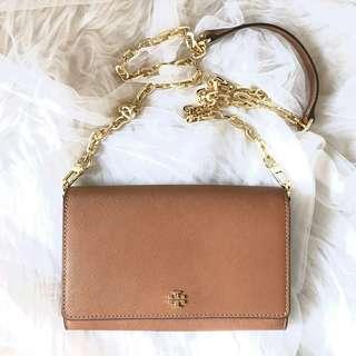 Tory burch robinson chain wallet crossbody size: 19,5cm x 14cm