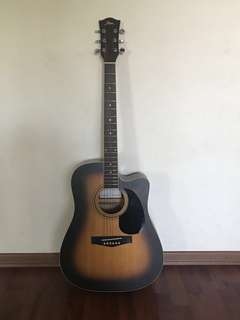 Fina Acoustic dreadnought Guitar with full set