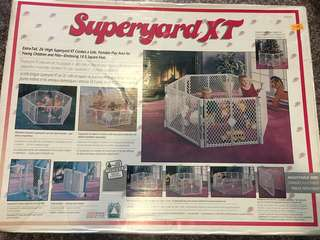 "Superyard XT portable play area, 26""H 18.5 sq ft"