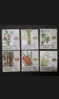 Malaysia 1986 Wilayah Persekutuan Agro-Based Products Loose Set Short Of 2c - 6v Mix MNH & Used Stamps