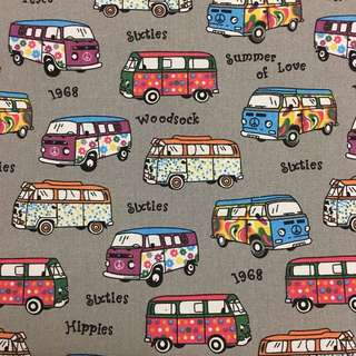 Cute bus 🚎 cotton canvas fabric/kain diy cloth