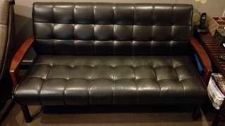 PU leather sofa (3 seated)