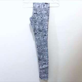 BNWOT Cotton On Heather Grey Snoopy Comics Leggings Tights