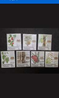 Malaysia 1986 Wilayah Persekutuan Agro-Based Products Complete Set - 7v Mix MNH & Used Stamps