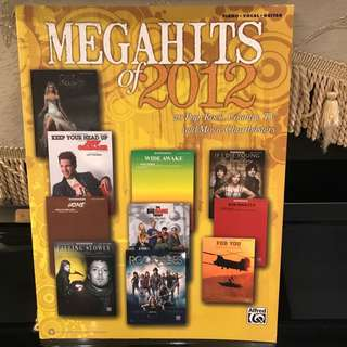 Music Scores Book: MegaHits of 2012