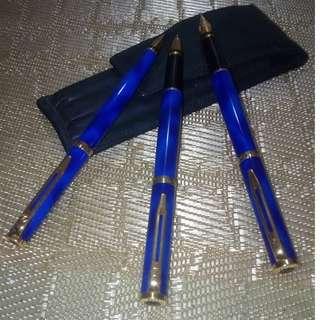 WATERMAN MARBLE BLUE SET