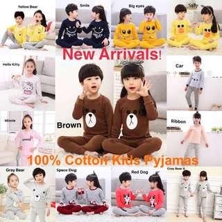 100% cotton kids pyjamas