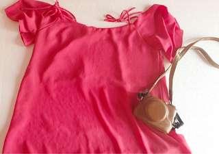 Off Shoulders Pink Top