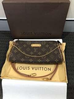 LOUIS VUITTON Eva Clutch Monogram Shoulder Crossbody Bag!! Authentic!!