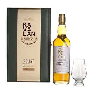 噶瑪蘭Kavalan經典獨奏波本桶 威士忌原酒700ml礼盒