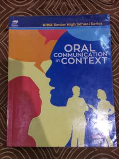 Oral Communication in Context (SHS Textbook)