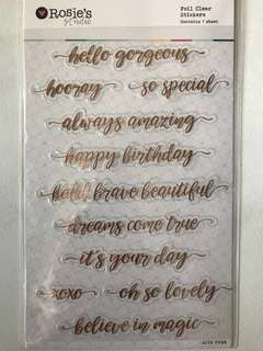 Foil Clear Stickers (Rose gold/Gold/Silver)