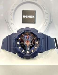 * FREE DELIVERY * Brand New 100% Authentic Casio GShock S Series Matt Blue & Rose Gold Index G Shock for Ladies G-Shock GMAS110CM 2 GMAS110CM-2ADR