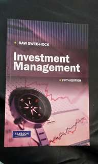 Investment management - by Saw Swee Hock