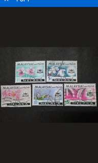 Malaysia 1965 Melaka Orchids Definitive Loose Set - 5v Used & MH Stamps