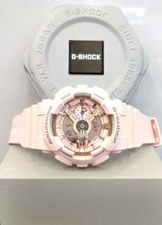 * FREE DELIVERY * Brand New 100% Authentic Casio GShock S Series Rose Gold Tone G Shock for Ladies G-Shock GMAS110MP 4A1 GMAS110MP-4A1DR