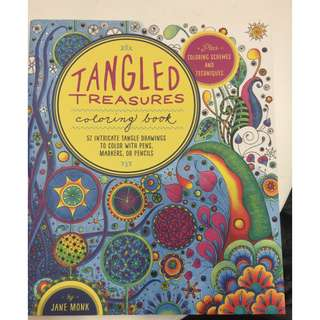 C206 BOOK - TANGLED TREASURES- CHILDREN'S COLOURING BOOK