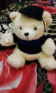 Boneka bear wisuda