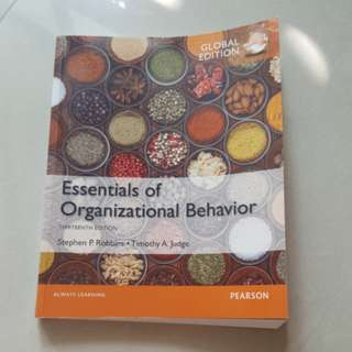 Essentials of organizational behaviour - UCD