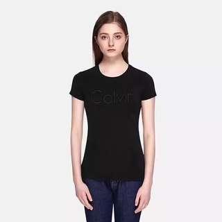 🚚 OshareGirl 05 歐美女士立體logo純色棉短袖T恤上衣