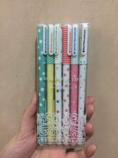 BEAUTIFUL LIFE IN MY HEART COLORED PENS