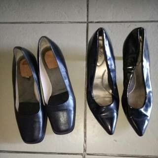 Deflex comport and Dr Kong black shoes size 8