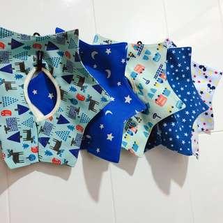 Baby Bibs Cotton Flower Star Waterproof Slobber Baby Bib Swivel Snap