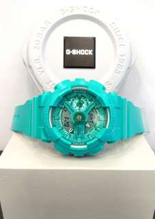 * FREE DELIVERY * Brand New 100% Authentic Casio GShock Mint Green G Shock for Ladies G-Shock GMAS110VC 3 GMAS110VC-3ADR
