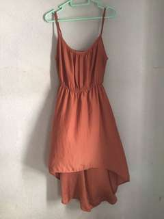 cotton on rose gold flowy dress👗