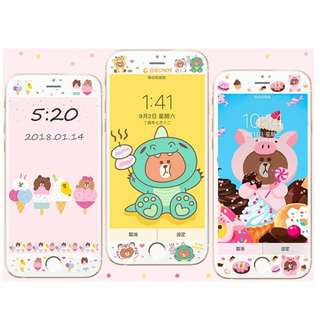 Line friends screen protector for iphone