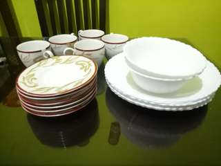 Plates ,bowels and cup saucers