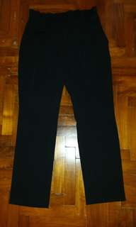 Glitter Glam Straight Fit Office Pants (Black)