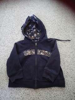 (E )Oshkosh Hoodie Jacket 1-2y /B