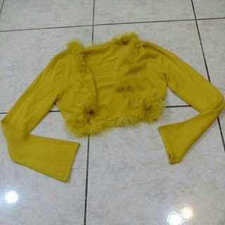 【⏰全面出清】芥末黃針織上衣