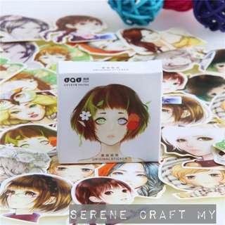 Set of 45pcs Beautiful Japanese Korean Ladies Sticker Pack