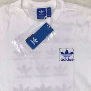Adidas Trefoil Scaled Tee (White), Authentic