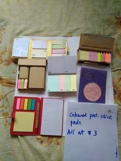 Coloured Post Stick Pad