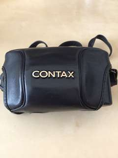 Black Nappa leather case for Contax TVS camera