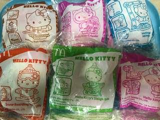麥當勞開心樂園餐玩具 kitty一套六款