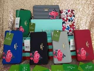 SALE! 7pcs Lots of KATE SPADE Wallets Wholesale Bnew Gift Complete Designer Wallet Clutch OOTD Stripes Floral