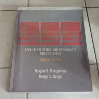 Applied Statistics and Probability for Engineers, Fourth Edition, Wiley Asia Student Edition