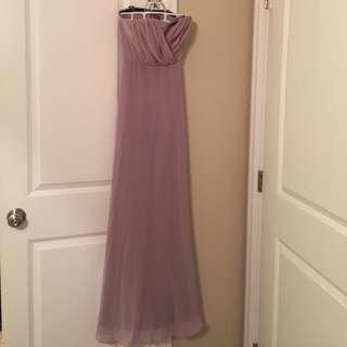 BNWT Vera Wang Long Chiffon Mauve Bridesmaid Dress (Size 4)