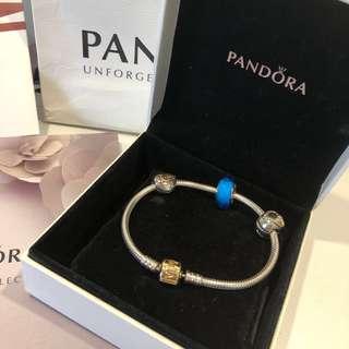 🚚 Pandora 經典雙色14k金 18cm 型號590702